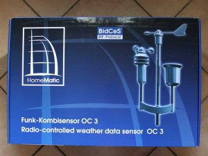 Verpackung Wetterstation OC3