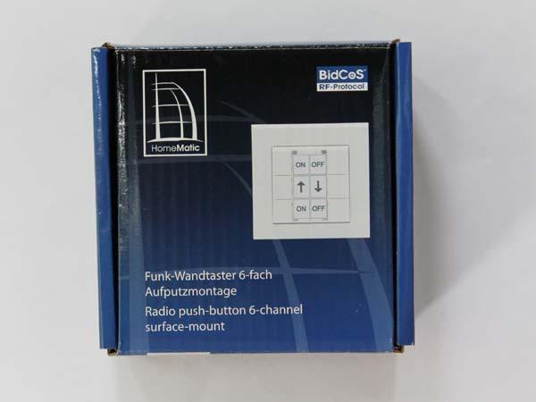 funk wandtaster 6 fach hm pb 6 wm55 smarthome. Black Bedroom Furniture Sets. Home Design Ideas
