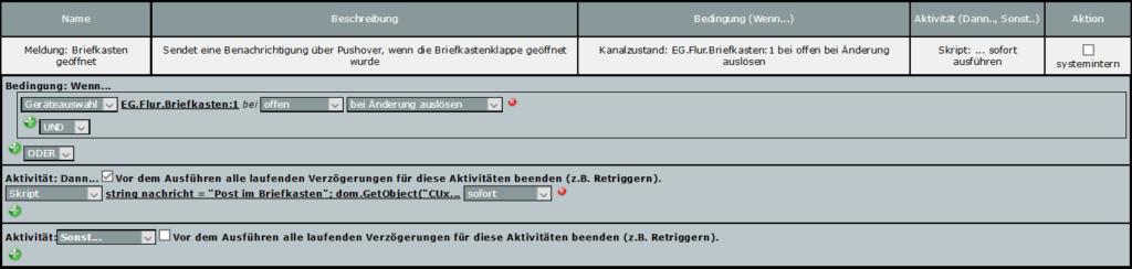 Screenshot des Programms